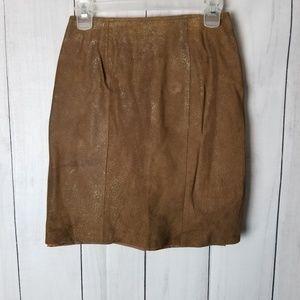 Vintage Pelle Studio Leather Pencil Skirt